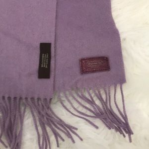 Coach purple cashmere scarf